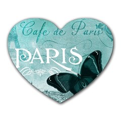 Paris Butterfly Mouse Pad (Heart)