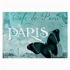 Paris Butterfly Glasses Cloth (Large, Two Sided)