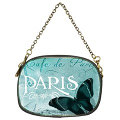 Paris Butterfly Chain Purse (One Side)