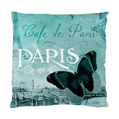Paris Butterfly Cushion Case (Single Sided)