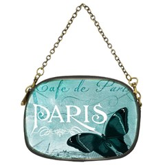 Paris Butterfly Chain Purse (Two Sided)
