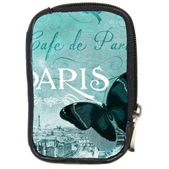 Paris Butterfly Compact Camera Leather Case