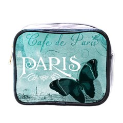 Paris Butterfly Mini Travel Toiletry Bag (One Side)