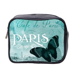Paris Butterfly Mini Travel Toiletry Bag (two Sides)