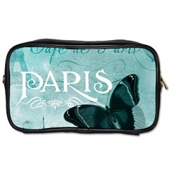Paris Butterfly Travel Toiletry Bag (One Side)
