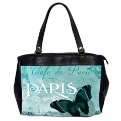 Paris Butterfly Oversize Office Handbag (two Sides)