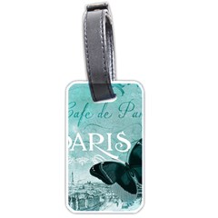Paris Butterfly Luggage Tag (One Side)