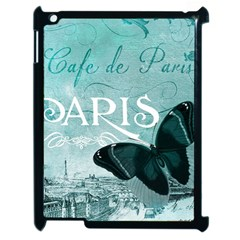 Paris Butterfly Apple iPad 2 Case (Black)