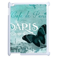 Paris Butterfly Apple Ipad 2 Case (white)