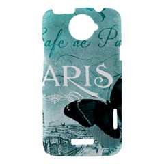 Paris Butterfly HTC One X Hardshell Case