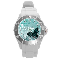 Paris Butterfly Plastic Sport Watch (Large)
