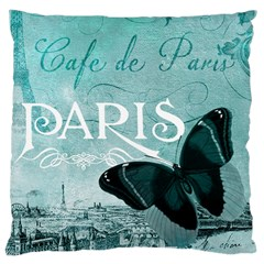 Paris Butterfly Large Cushion Case (Two Sided)