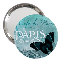 Paris Butterfly 3  Handbag Mirror