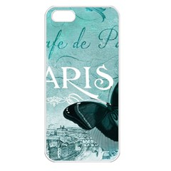 Paris Butterfly Apple Iphone 5 Seamless Case (white)