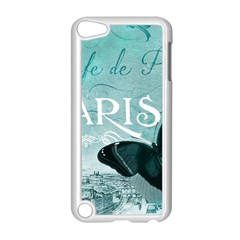 Paris Butterfly Apple iPod Touch 5 Case (White)