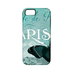 Paris Butterfly Apple Iphone 5 Classic Hardshell Case (pc+silicone)