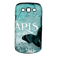 Paris Butterfly Samsung Galaxy S III Classic Hardshell Case (PC+Silicone)