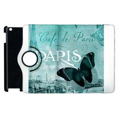 Paris Butterfly Apple iPad 3/4 Flip 360 Case