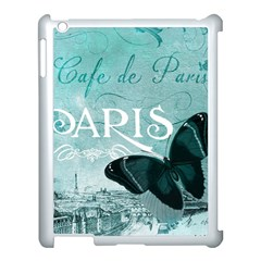 Paris Butterfly Apple iPad 3/4 Case (White)