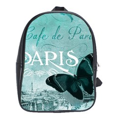Paris Butterfly School Bag (XL)