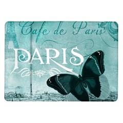 Paris Butterfly Samsung Galaxy Tab 10.1  P7500 Flip Case