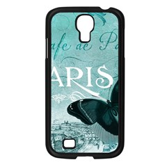 Paris Butterfly Samsung Galaxy S4 I9500/ I9505 Case (Black)