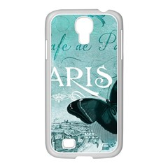 Paris Butterfly Samsung GALAXY S4 I9500/ I9505 Case (White)
