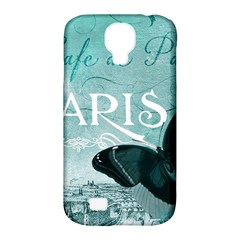 Paris Butterfly Samsung Galaxy S4 Classic Hardshell Case (PC+Silicone)