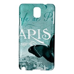 Paris Butterfly Samsung Galaxy Note 3 N9005 Hardshell Case