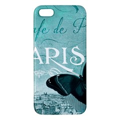Paris Butterfly iPhone 5S Premium Hardshell Case