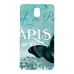Paris Butterfly Samsung Galaxy Note 3 N9005 Hardshell Back Case