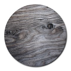 Weathered Wood 8  Mouse Pad (Round)