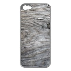 Weathered Wood Apple iPhone 5 Case (Silver)