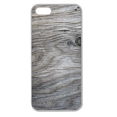 Weathered Wood Apple Seamless iPhone 5 Case (Clear)