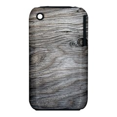 Weathered Wood Apple iPhone 3G/3GS Hardshell Case (PC+Silicone)