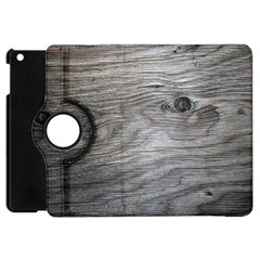 Weathered Wood Apple Ipad Mini Flip 360 Case
