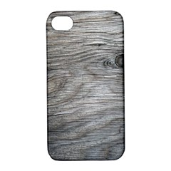 Weathered Wood Apple iPhone 4/4S Hardshell Case with Stand