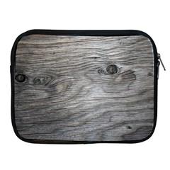 Weathered Wood Apple Ipad Zippered Sleeve