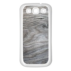 Weathered Wood Samsung Galaxy S3 Back Case (White)