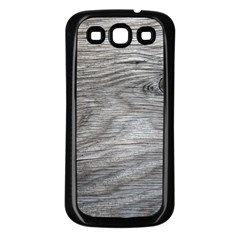 Weathered Wood Samsung Galaxy S3 Back Case (Black)