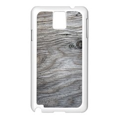 Weathered Wood Samsung Galaxy Note 3 N9005 Case (White)
