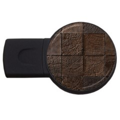 Wood Mosaic 4gb Usb Flash Drive (round)