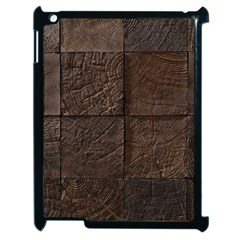 Wood Mosaic Apple iPad 2 Case (Black)