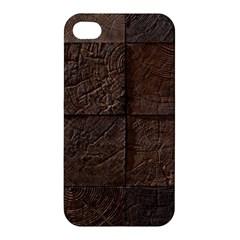 Wood Mosaic Apple Iphone 4/4s Hardshell Case