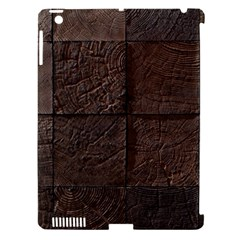 Wood Mosaic Apple iPad 3/4 Hardshell Case (Compatible with Smart Cover)