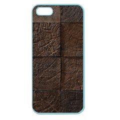 Wood Mosaic Apple Seamless iPhone 5 Case (Color)