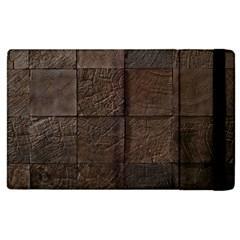 Wood Mosaic Apple iPad 2 Flip Case