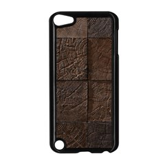 Wood Mosaic Apple Ipod Touch 5 Case (black)