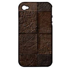 Wood Mosaic Apple Iphone 4/4s Hardshell Case (pc+silicone)