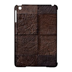 Wood Mosaic Apple iPad Mini Hardshell Case (Compatible with Smart Cover)